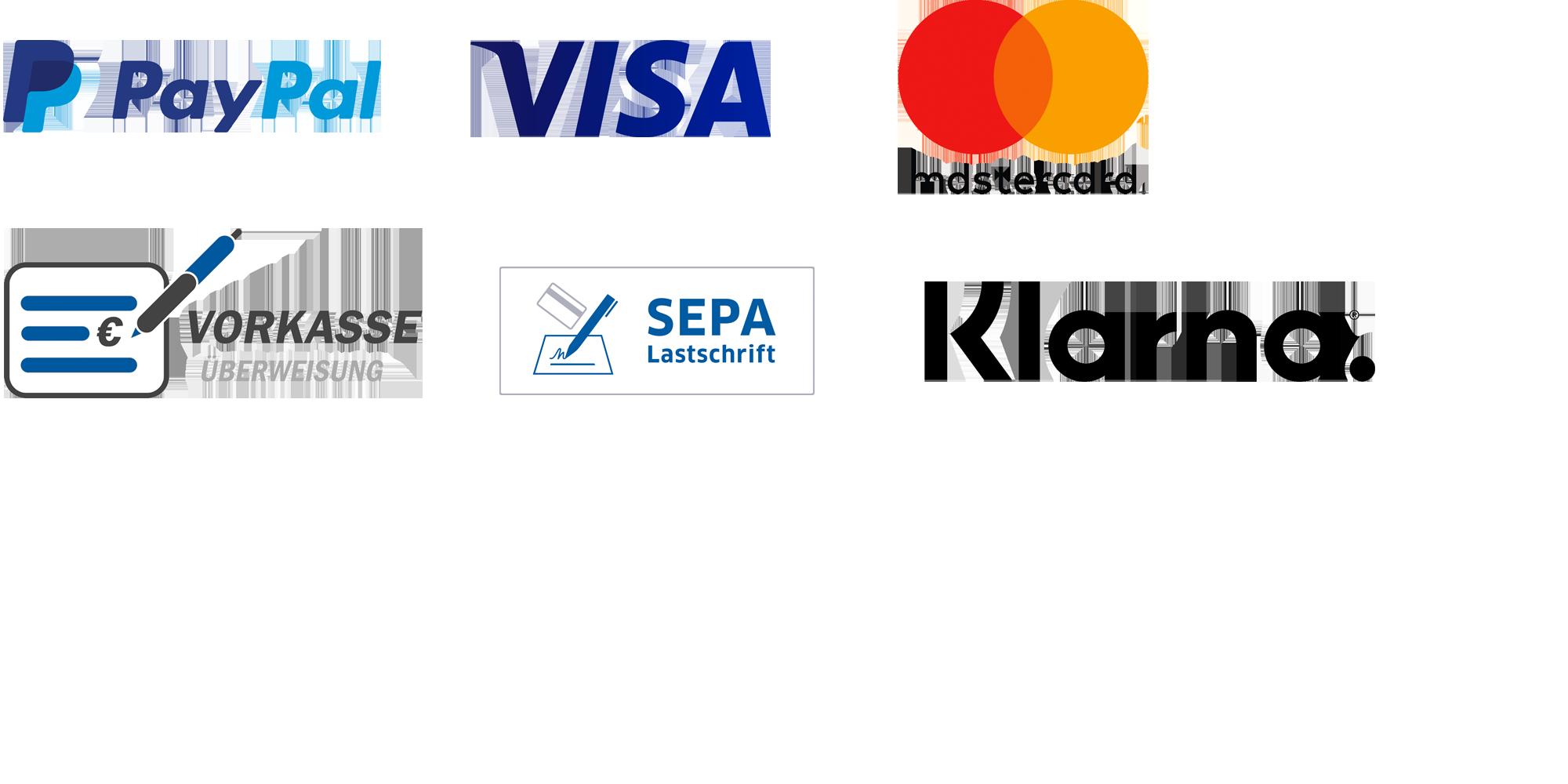 Unsere Zahlungsdienstleister
