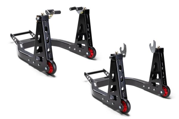 Superlight Aluminium Paddock Stand, Set, Front & Rear
