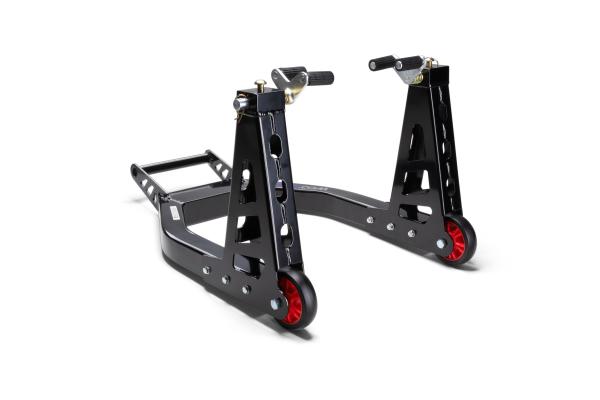 Superlight aluminium paddock stand, front wheel