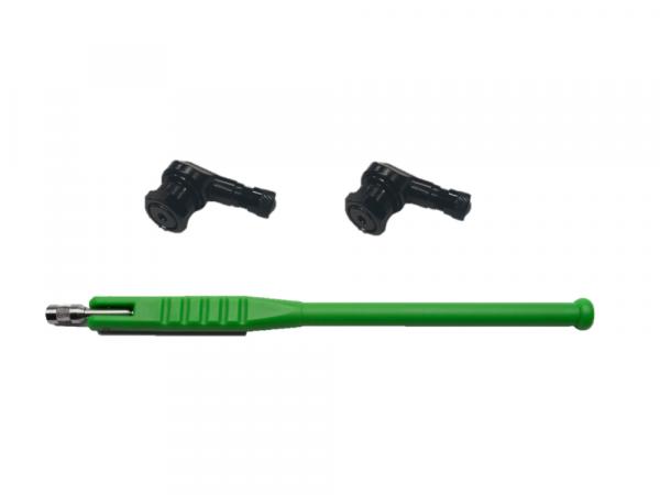 Valve set: 2x angle valve 8.3 mm & valve tool motorbike