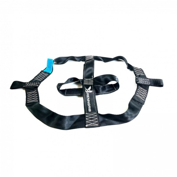 Tensioning strap / transport strap for the rear tyre