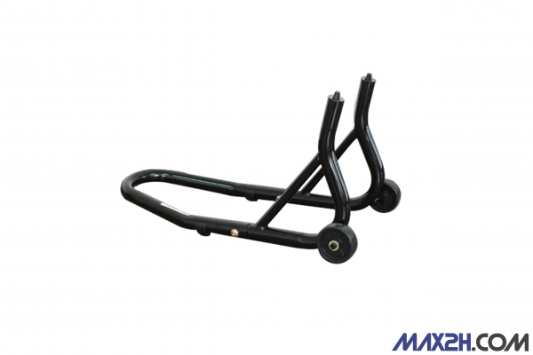 Motorbike stand front wheel with mandrel holder