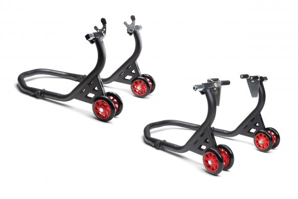 Motorcycle assembly stand set