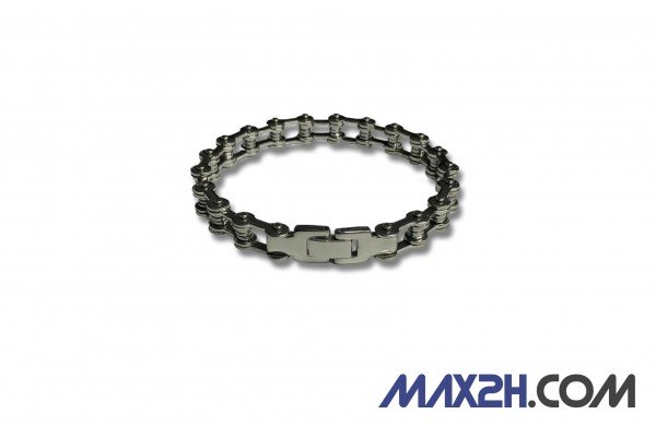 MAX2H Edelstahl Ketten Armband